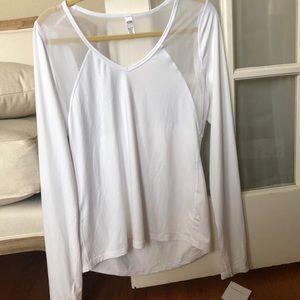 White Victoria sport workout shirt